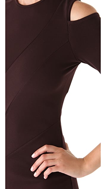 Kimberly Ovitz Cutout Shoulder Dress