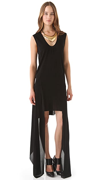 Kimberly Ovitz Matte Jersey Drop Side Dress