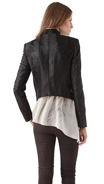 Kimberly Ovitz Cropped Faux Fur Jacket