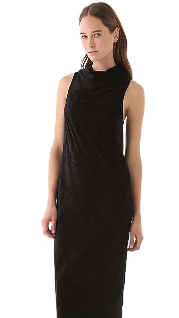Kimberly Ovitz Velvet Cowl Maxi Dress