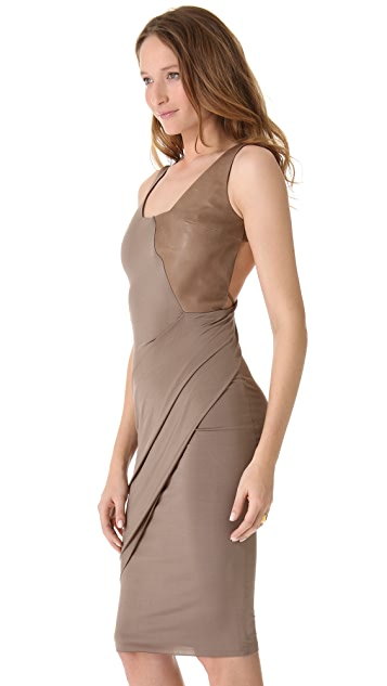 Kimberly Ovitz Sinti Dress with Leather Trim
