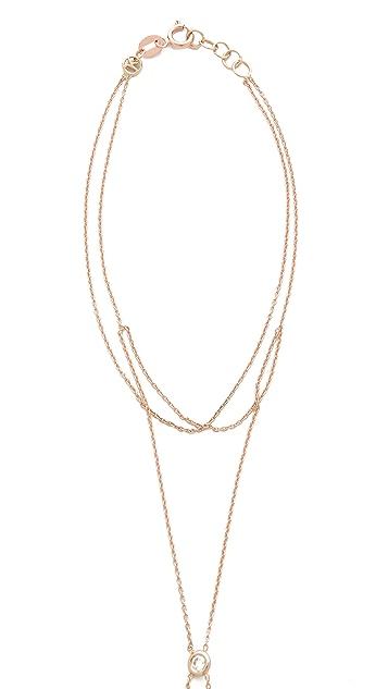 Kismet by Milka Crisscross Hand Chain