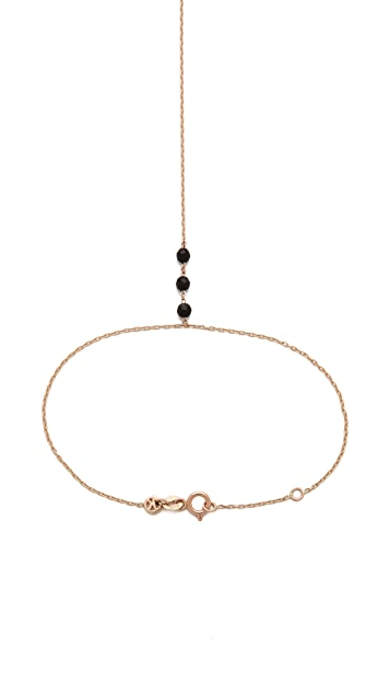 Kismet by Milka Black Onyx Hand Chain