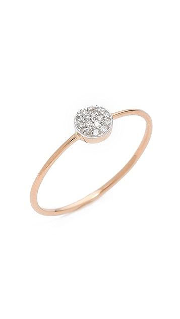 Kismet by Milka Pave Circle Ring