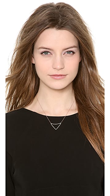 Kismet by Milka Open Triangle Necklace