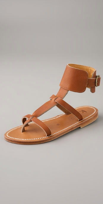 K. Jacques Caravelle Ankle Strap Thong