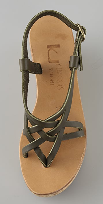 K. Jacques Jalama Cork Platform Sandals