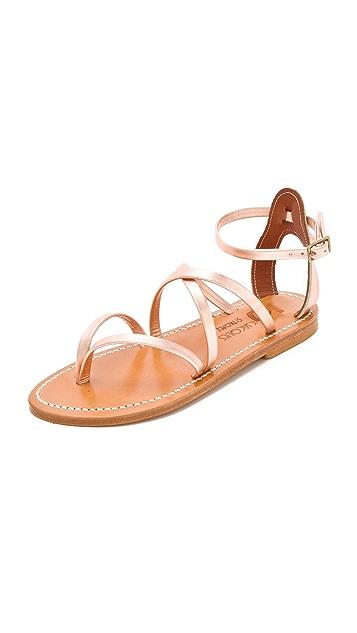 K. Jacques Epicure Metallic Sandals