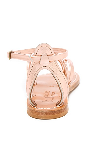 K. Jacques Epicure Metallic Sandals