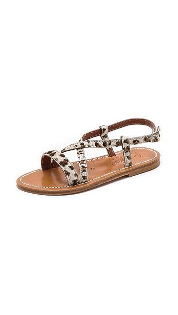 K. Jacques Flavia Crisscross Sandals