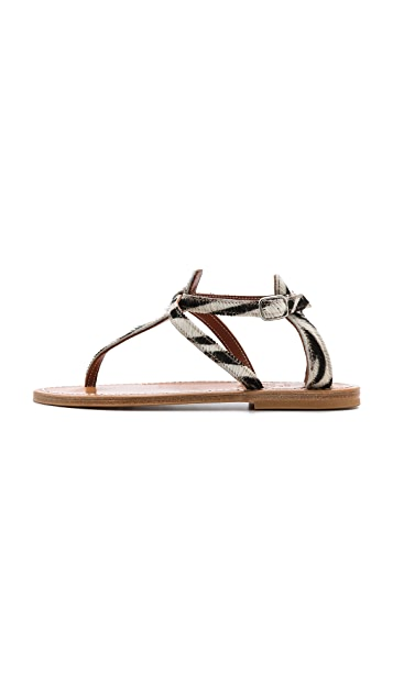 K. Jacques Buffon Haircalf Sandals