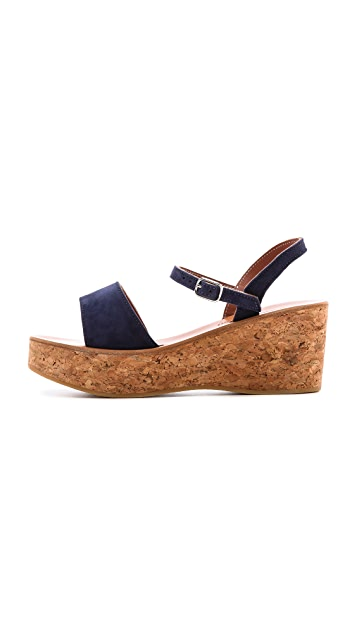 K. Jacques Josy Wedge Sandals