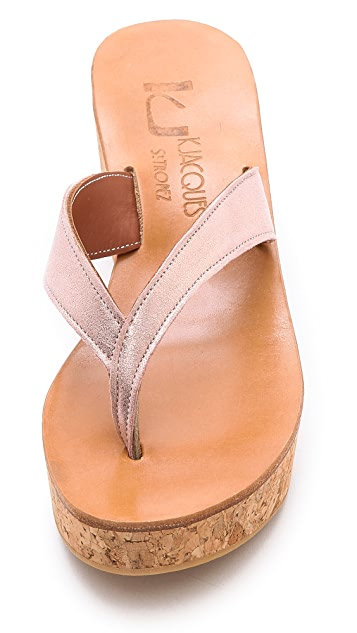 K. Jacques Diortie Wedge Thong Sandals