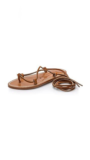 K. Jacques Bikini Wrap Gladiator Sandals