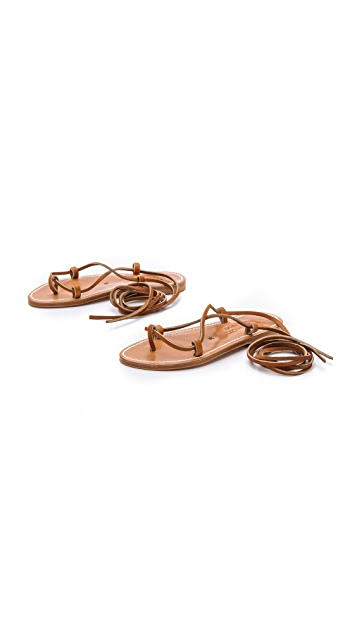 K. Jacques Bikini Wrap Gladiator Sandals