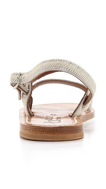 K. Jacques Barigoule Two Band Haircalf Sandals