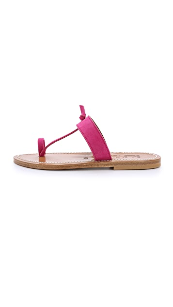 K. Jacques Ganges Suede Sandals