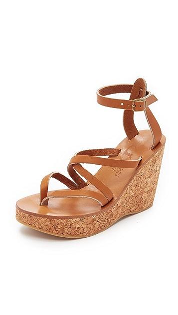 K. Jacques Cunegonde Wedge Sandals