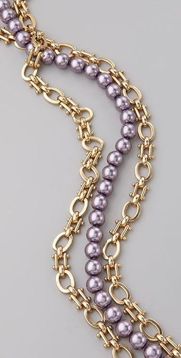 Kenneth Jay Lane Enamel Flower Necklace