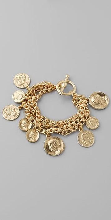 Kenneth Jay Lane Antique Coin Bracelet