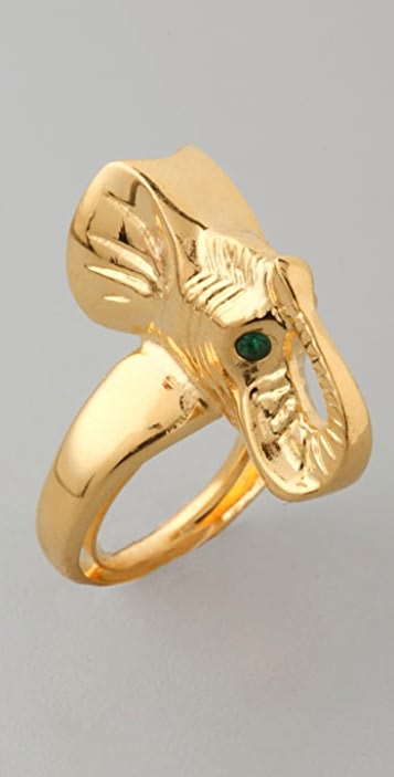 Kenneth Jay Lane Elephant Ring