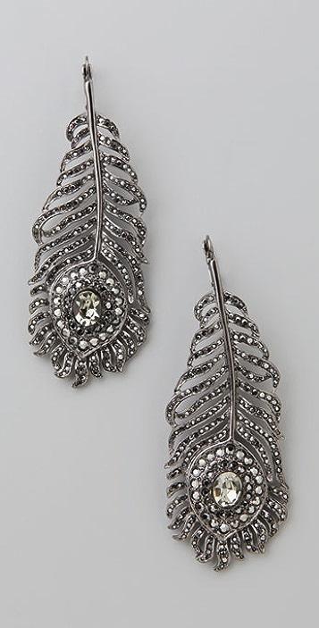 Kenneth Jay Lane Feather Earrings