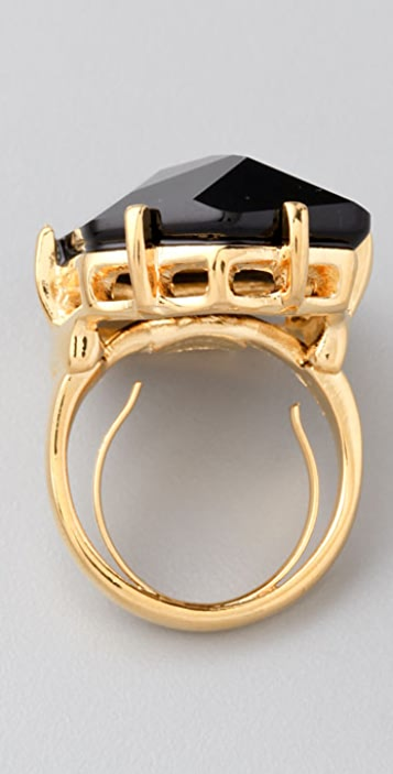 Kenneth Jay Lane Jet Fancy Cut Ring