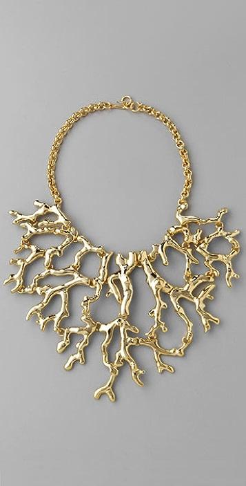 Kenneth Jay Lane Branch Bib Necklace