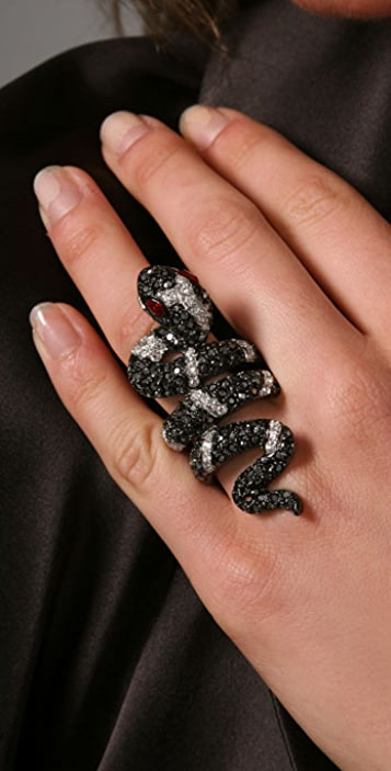 Kenneth Jay Lane Coil Snake Ring