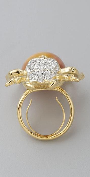 Kenneth Jay Lane Amber Beetle Ring