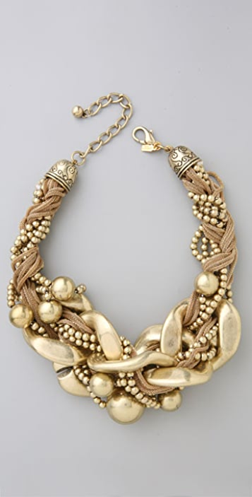 Kenneth Jay Lane Braided Chain Link Necklace
