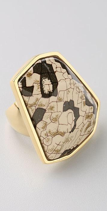 Kenneth Jay Lane Snake Print Ring