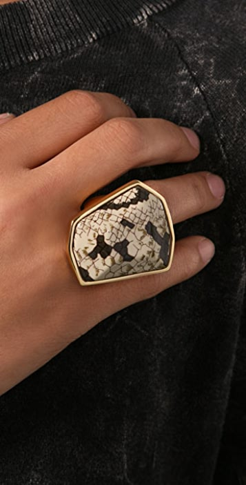 Kenneth Jay Lane Snake Print Ring