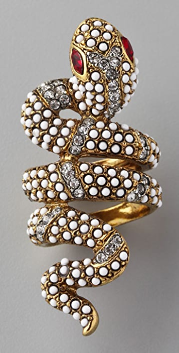 Kenneth Jay Lane Coiled Snake Ring