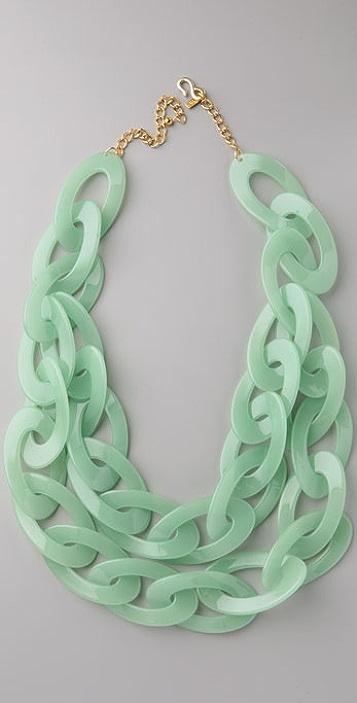 Kenneth Jay Lane Jade Link Necklace
