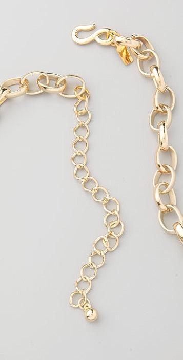 Kenneth Jay Lane Boxy Oval Link Necklace