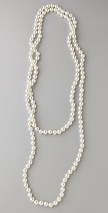 Kenneth Jay Lane Pearl Rope Necklace