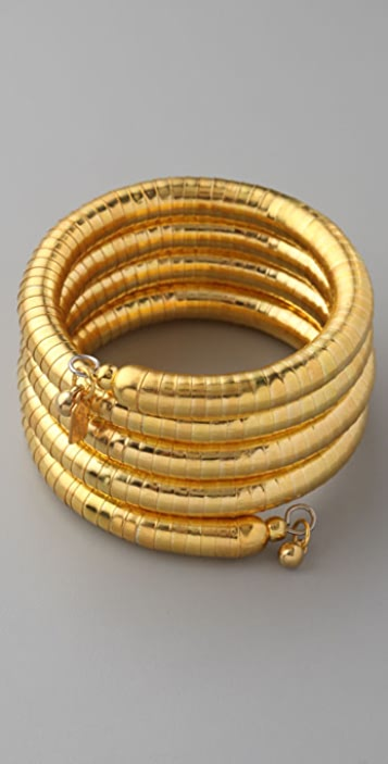 Kenneth Jay Lane Large Snake Coil Bracelet