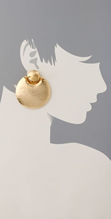 Kenneth Jay Lane Large Button Top Earrings