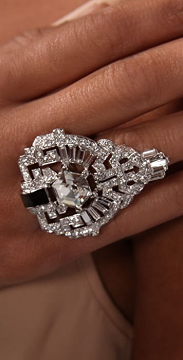 Kenneth Jay Lane Deco Ring