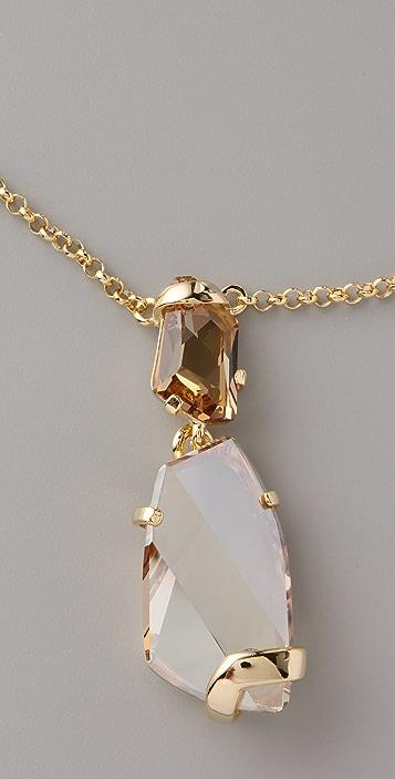 Kenneth Jay Lane Drop Pendant Necklace