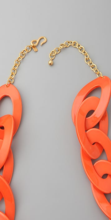 Kenneth Jay Lane Coral Link Necklace