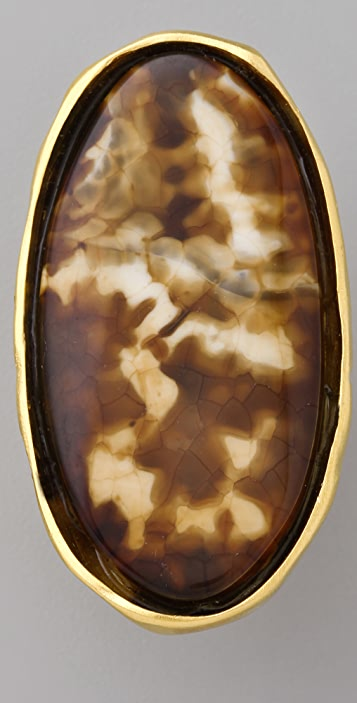 Kenneth Jay Lane Agate Oval Ring