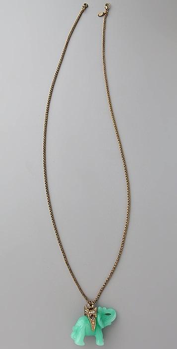 Kenneth Jay Lane Elephant Pendant Necklace