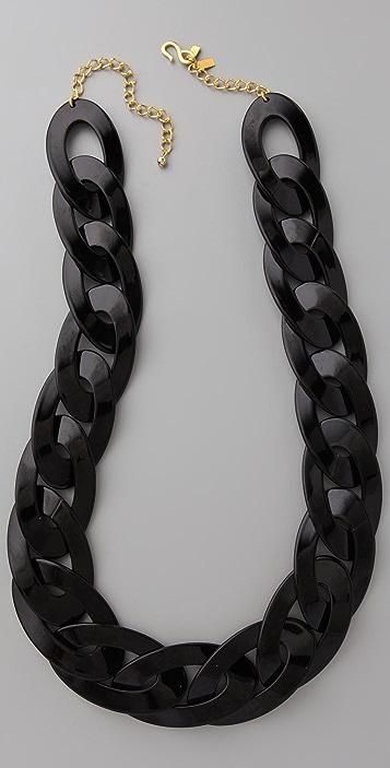 Kenneth Jay Lane Black Link Necklace