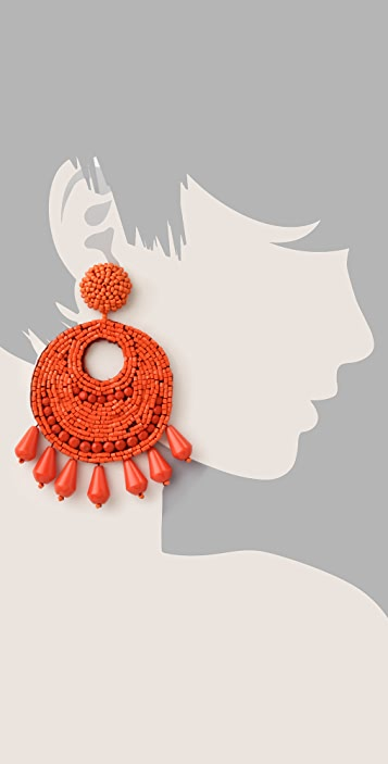 Kenneth Jay Lane Button Drop Earrings