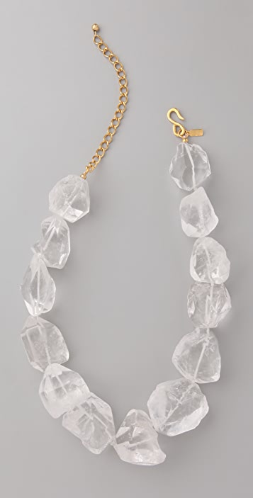 Kenneth Jay Lane Natural Rock Necklace