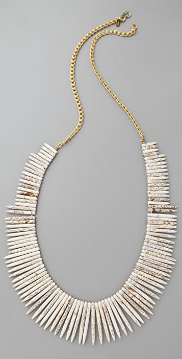 Kenneth Jay Lane Bone Stick Necklace