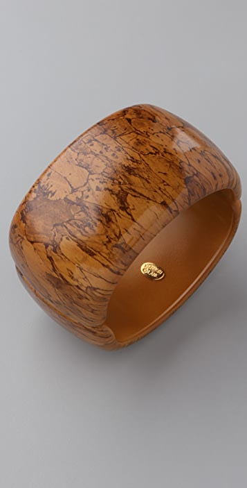 Kenneth Jay Lane Large Cork Print Bangle
