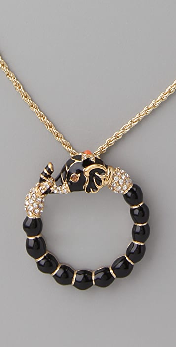 Kenneth Jay Lane Elephant Magnifying Glass Necklace